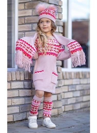 Riccotarz Kız Çocuk Diva Triko 4Lü Elbise Renkli